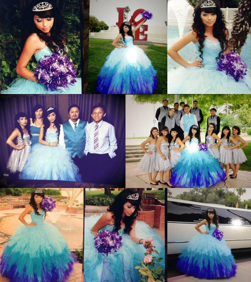 blue ombre quinceanera dress | quinceanera dresses | Pinterest ...