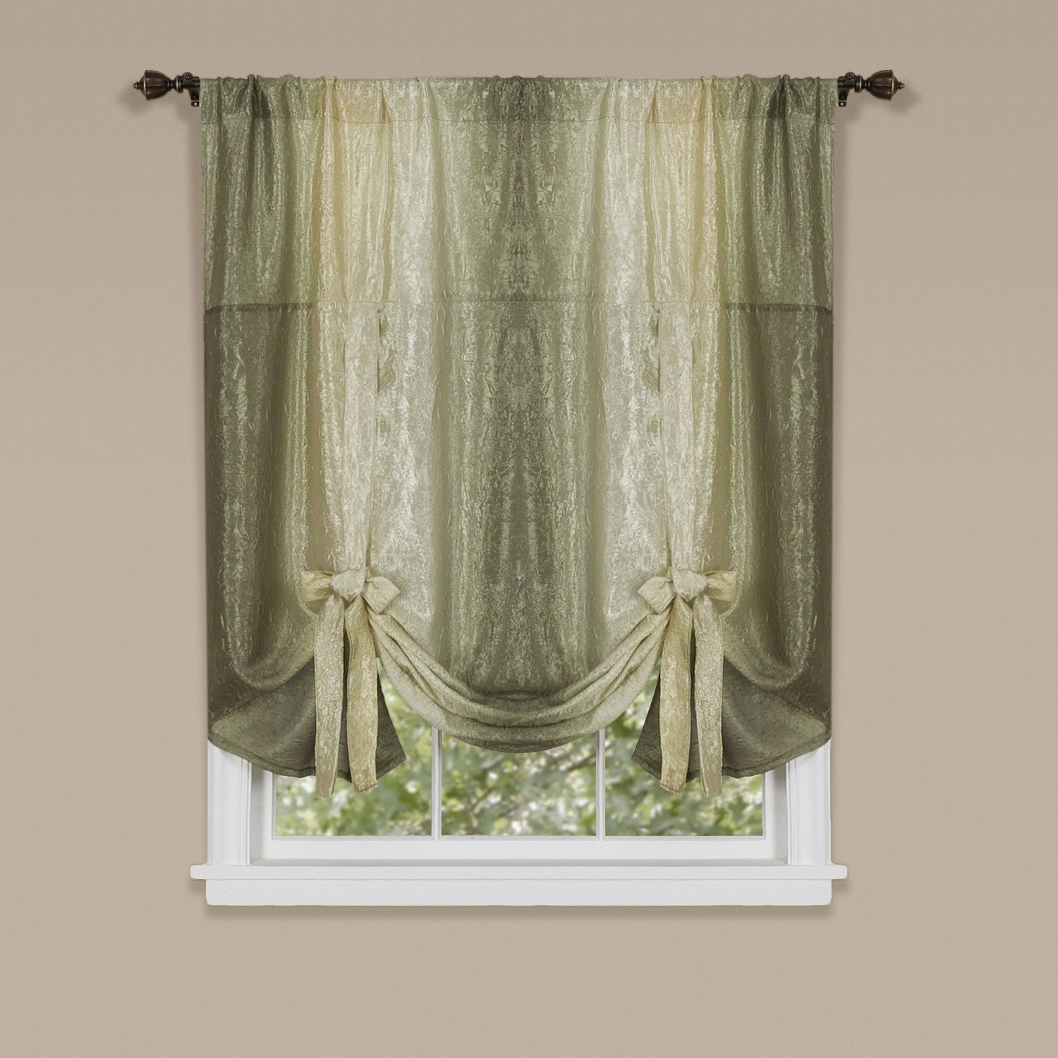 Bed bath and beyond window curtains  velia tie up abstract sheer single curtain panel  curtain valances