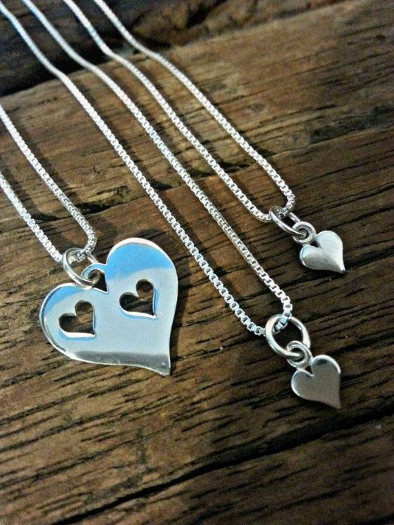 Mother Daughter Necklace Set Gift Mommy Matching For