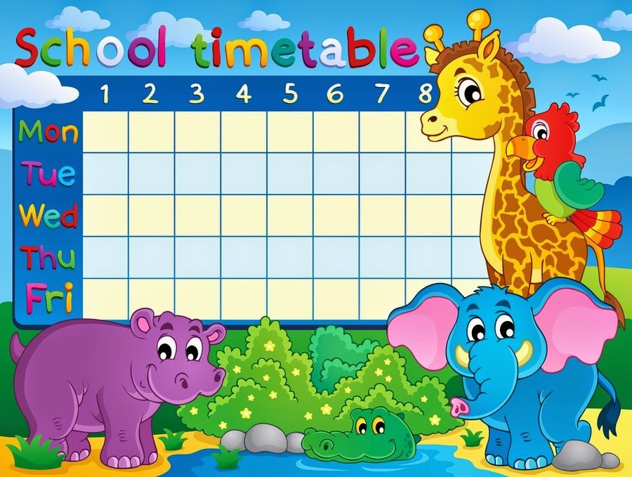 1000 ideas about School Timetable – Personal Time Table Format