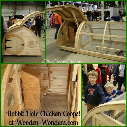 Wooden Wonders Hobbit Hole Chicken Coops #ChickenHouses