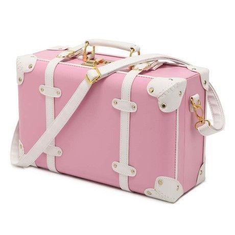"New Women Vintage Luggage Sets PU Leather Travel Suitcase,Universal Wheels Trolley Luggage Bag 22"" 24"" Rolling Luggage"