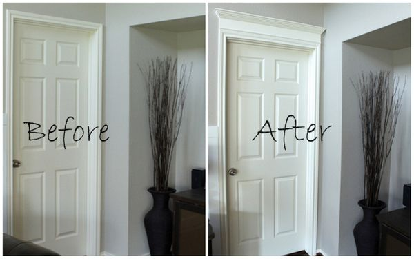 Merveilleux Add Value To Your Home   Easy U0026 Inexpensive! DIY Door Molding   A Piece Of  MDF And A Piece Of Crown On Top. Beautiful!