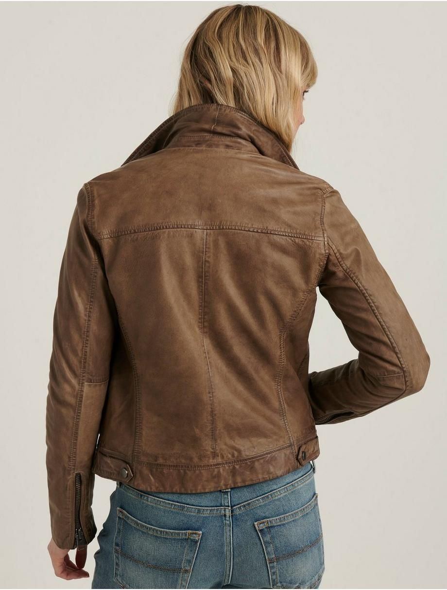 Distressed Leather Moto Jacket Lucky Brand Jackets Moto Jacket Leather Jackets Women [ 1212 x 920 Pixel ]
