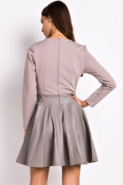 Fashion Cut-out Front Paneled Skate Dress - OASAP.com