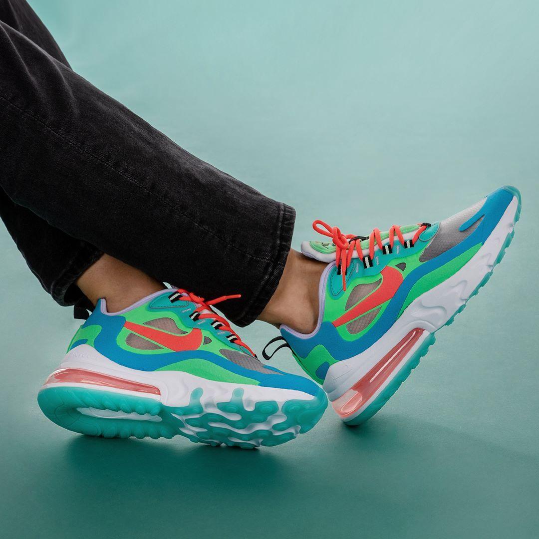 Nike Air Max 270 React In Bunt At6174 300 In 2020 Nike Air Sneaker Trend Und Frauenschuhe