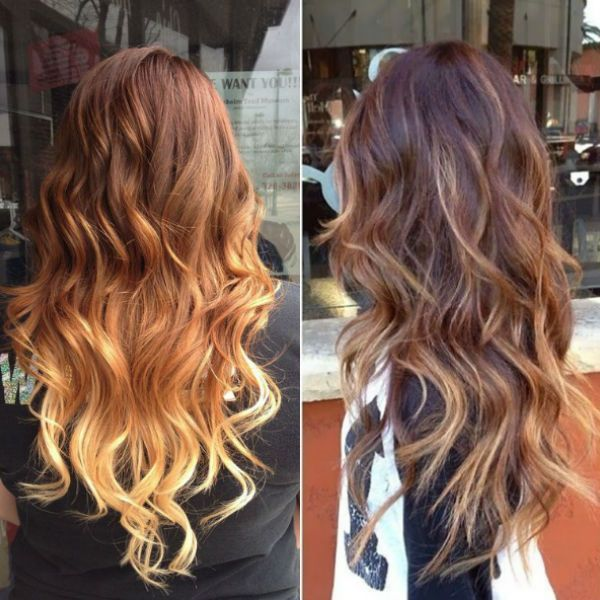 Brown Ombre Hair Color Long Balayage Hairstyle Trend Of 2016 Summer