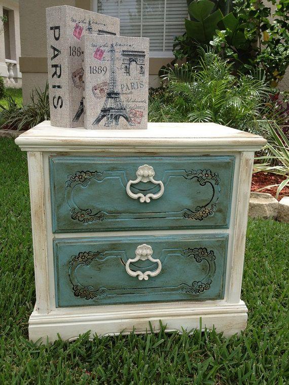 Shabby Chic Chalk Paint Nightstand End By Jenniferparisdesigns 175 00