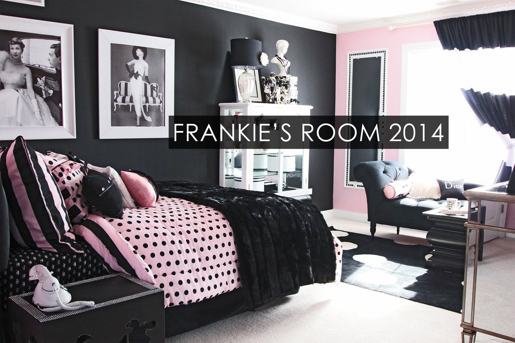 Wake Up Frankie Frankie S Room Tour 2014 Frenchie Left Bank Pink Black Room Tiffany Blue Bedroom Blue Bedroom