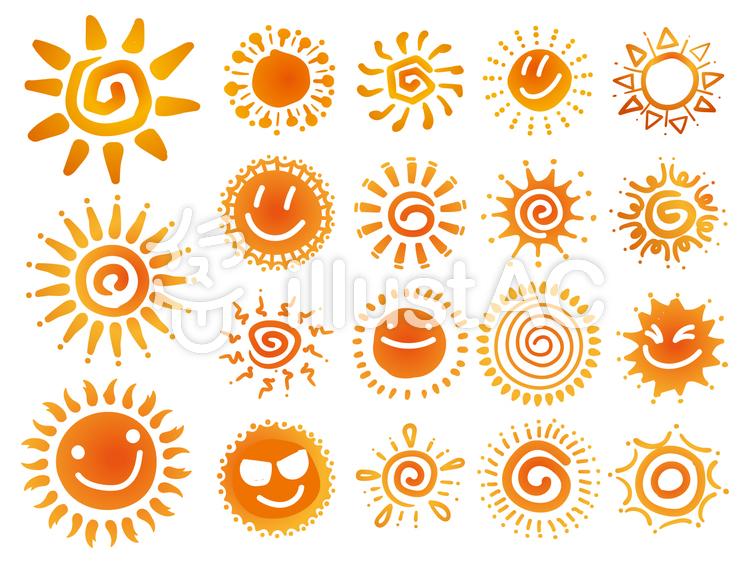 手書き 太陽 イラスト No 1893694 無料イラストなら イラストac 太陽イラスト イラスト 名刺 デザイン