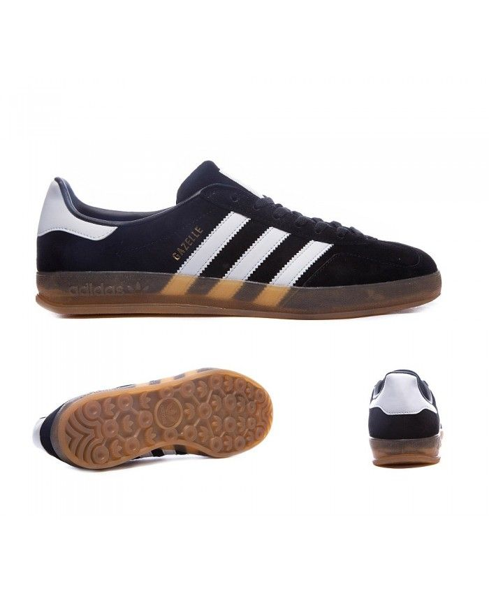 Adidas Sale Gazelle Indoor Black And White Trainers  a5a2282c8