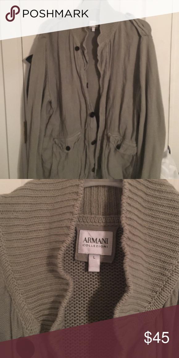 Armani Cardigan Grey Armani Collezioni Cardigan. It's a button down. Used last winter. Armani Collezioni Sweaters Cardigan