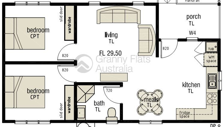 Converting A Double Garage Into A Granny Flat Google Search - Granny flat 2 bedroom designs
