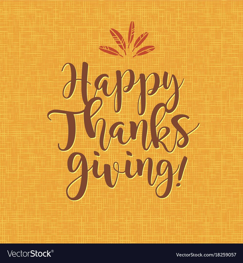 Happy thanksgiving calligraphy design Royalty Free Vector