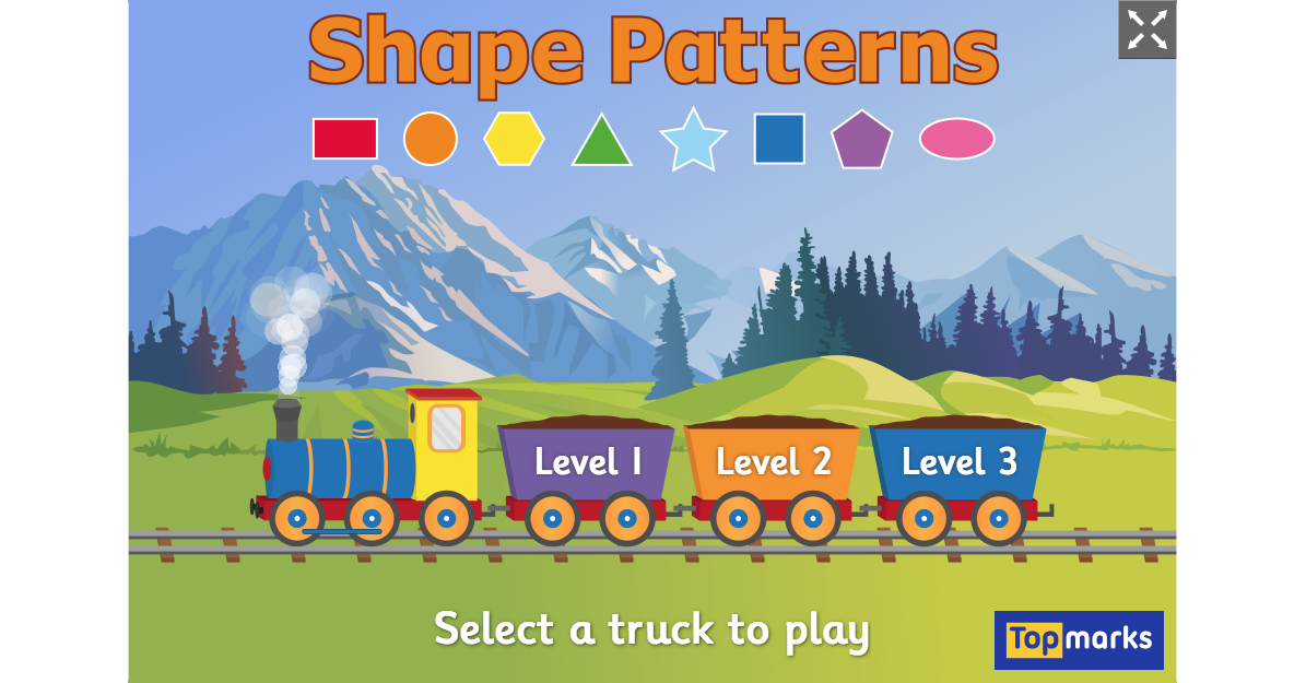 Shapes Patterns Is A Free Shapes Sequencing Game Where Children