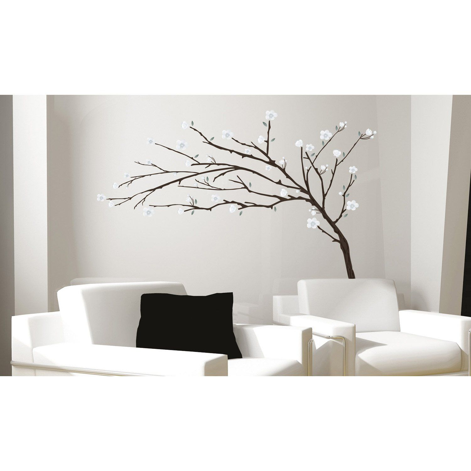 Sticker branche design 50 x 70 cm leroy merlin - Sticker mural leroy merlin ...