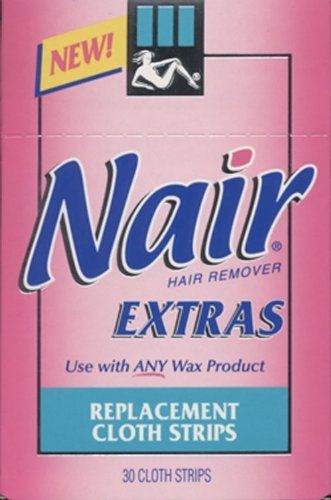 Nair Hair Remover Extras Replacement Cloth Strips 30 Cloths By