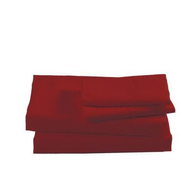 Mi Casa Deco Sheet Set Color: Garnet, Size: Queen