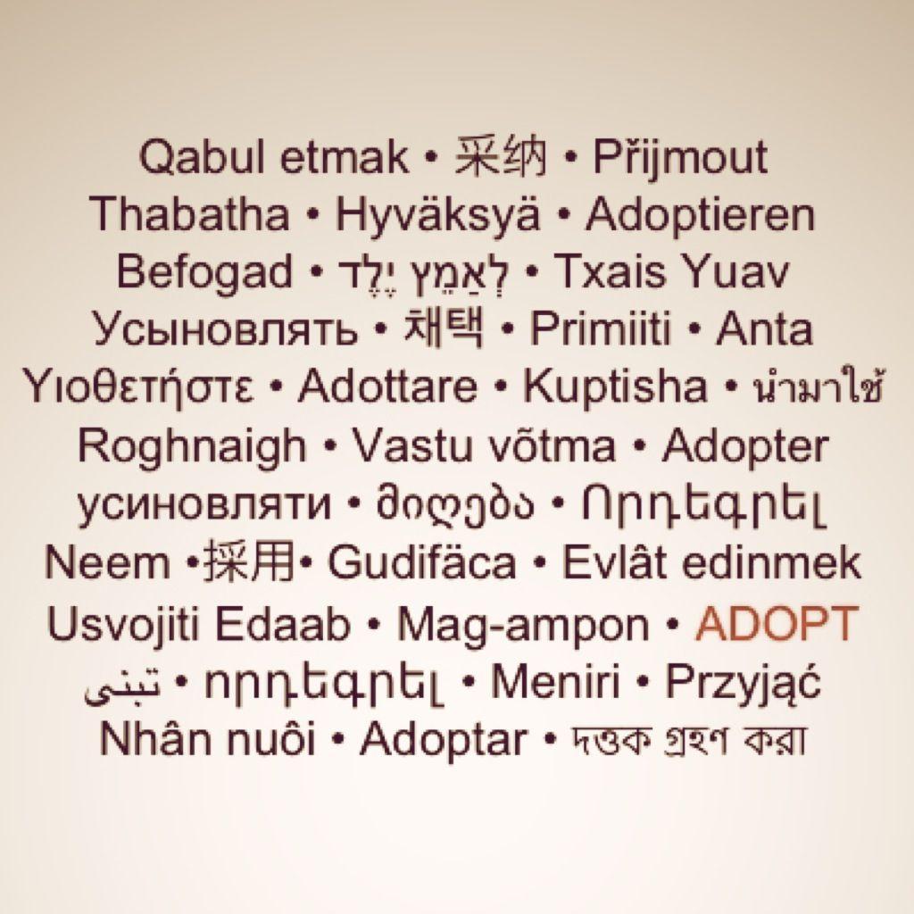 Adoption Wallpaper Adopt In Many Different Languages Adoption Language Distress