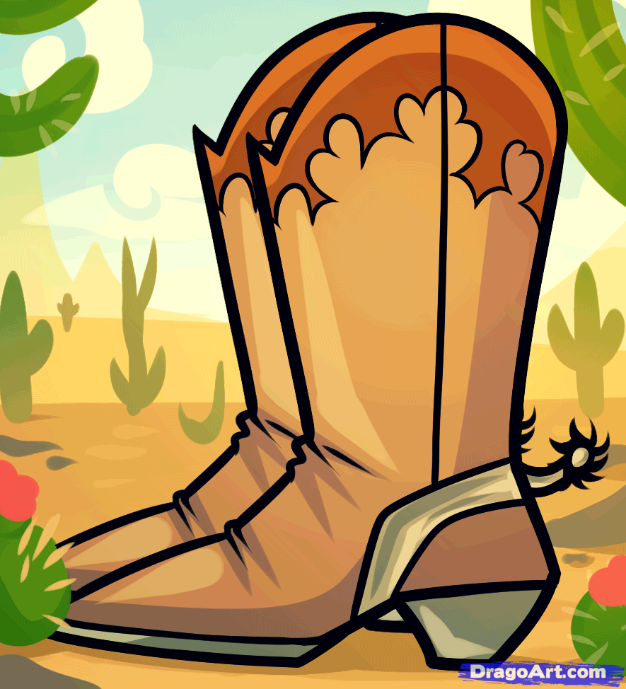 Boots fashion pic boots clip art - How To Draw Cowboy Boots Cowboy Boots Step By Step Fashion Pop