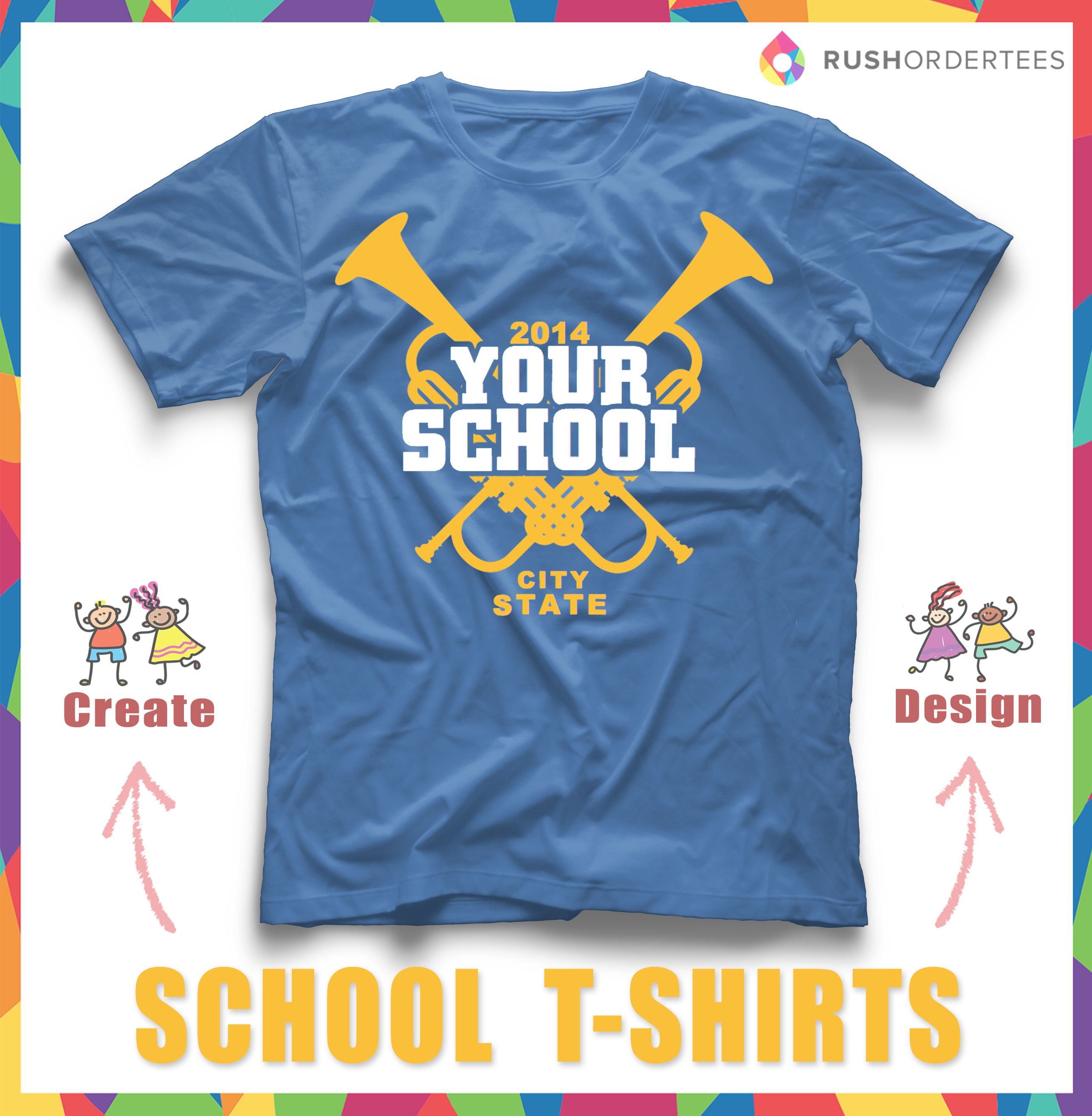 Get Your School Spirit On By Creating Custom T Shirts Find More