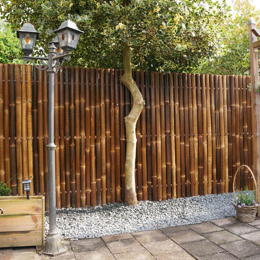 Zwart Bamboescherm Giant 90 X 180 Cm In 2020 Bamboo Garden Fences Bamboo Fence Fence Design