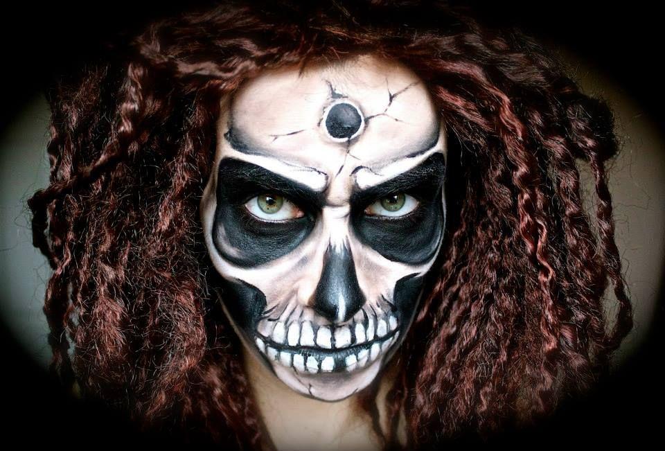 Scary/Creepy Skull Makeup Tutorial; Halloween   wwwyoutube - scary diy halloween costumes