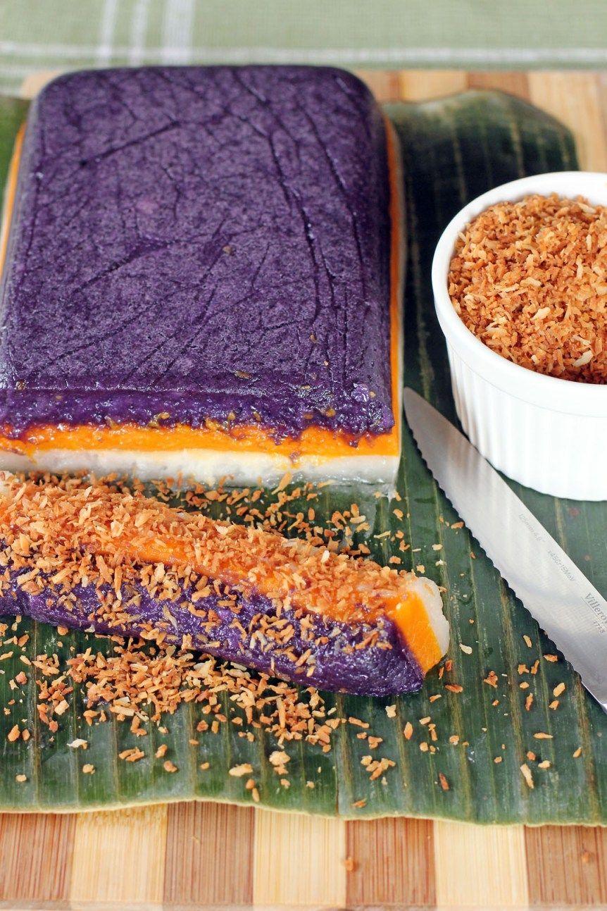 Sapin Sapin   Recipe   Food, Filipino desserts, Rice cakes