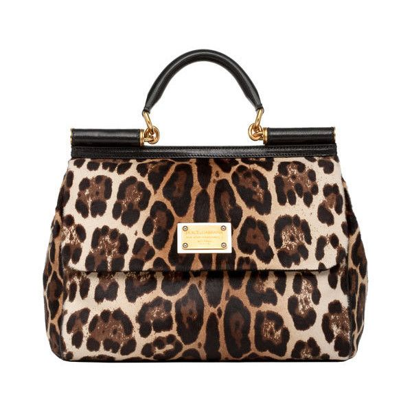 Dolce   Gabbana leopard pony skin  Miss Sicily  bag - ELLE UK Autumn  ...  via Polyvore 46cb7f3367091