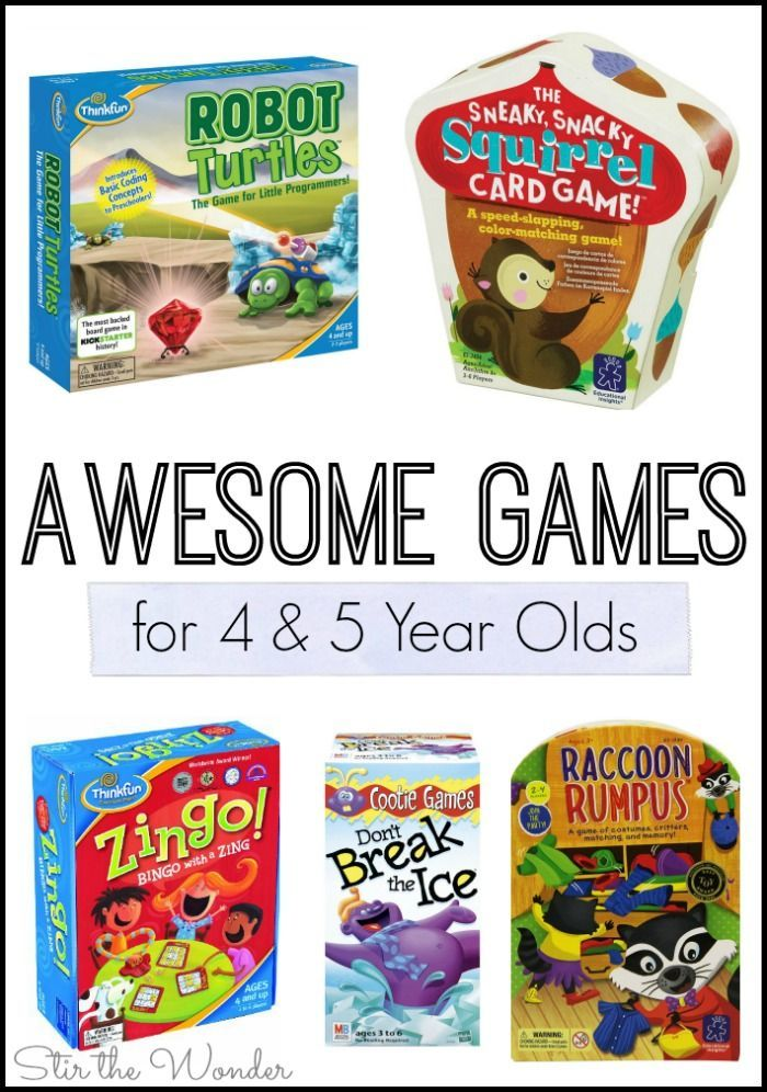 Awesome Games For 4 And 5 Year Olds Homeschooling