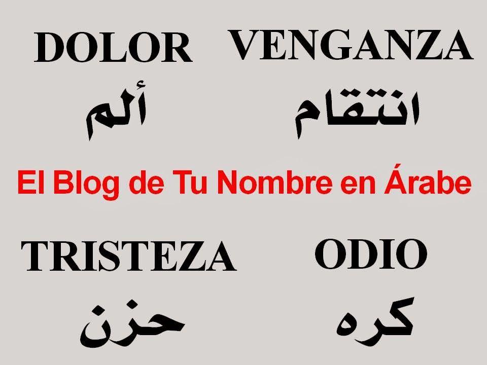 Mas Nombres En Arabe Apellidos Palabras Y Frases Nombres En