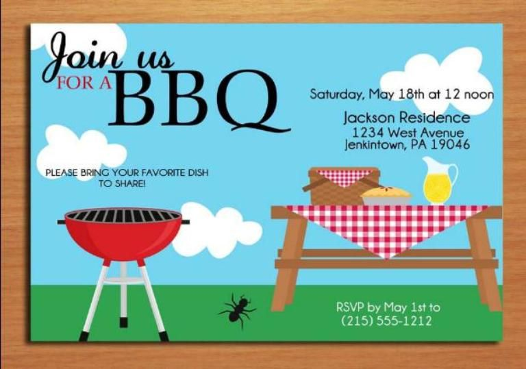 Bbq Invitation Template | Invitation Sample | Pinterest