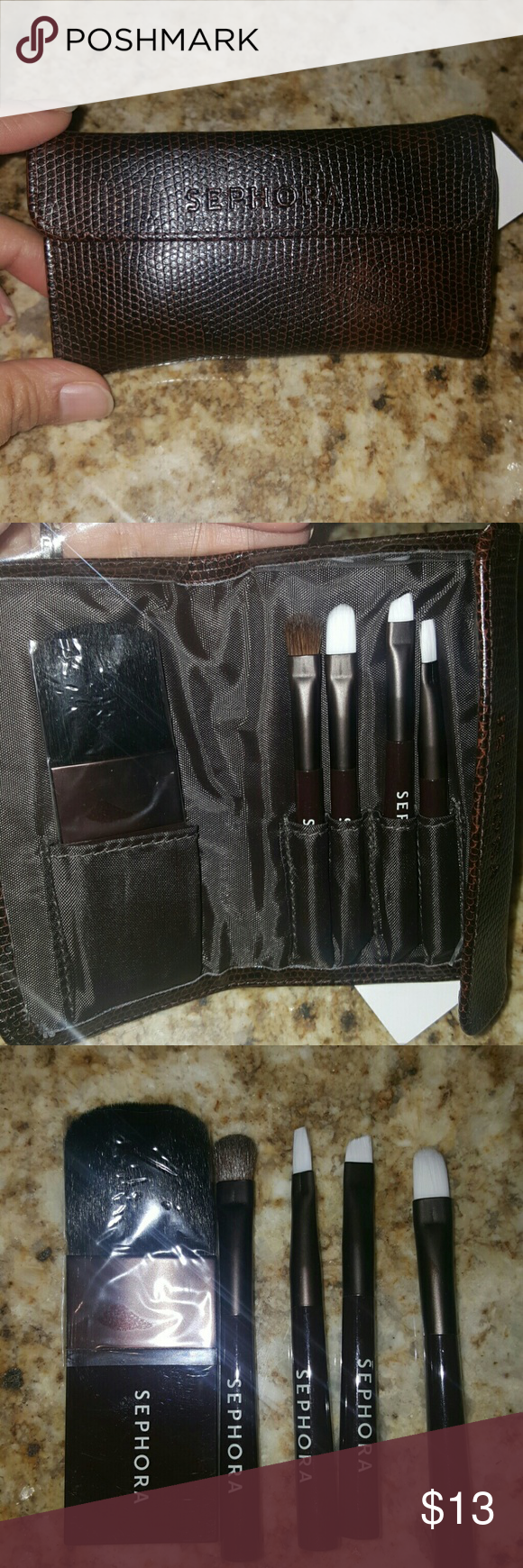Sephora brand travel brush set NWT Sephora brands