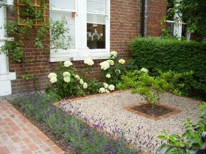 front garden ideas lavender border to front driveway boundary - Front Garden Ideas London