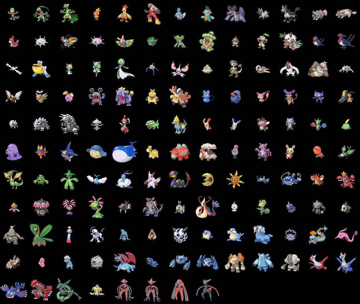 Покемоны второго поколения с картинками