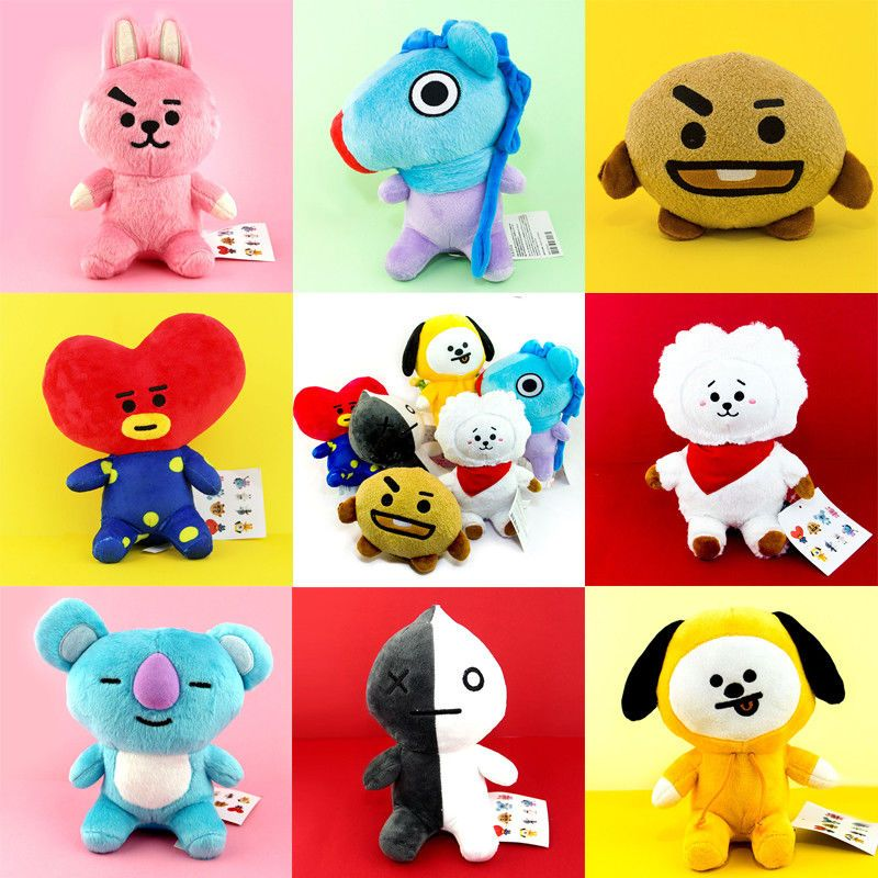 Kpop Hot Hot Army Van Suga Shooky Jimin Chimmy Dog Cooky Tata Soft Pillow Stuffed Plush Toy Doll Home Decor Cute Gift Pillow Women's Clothing