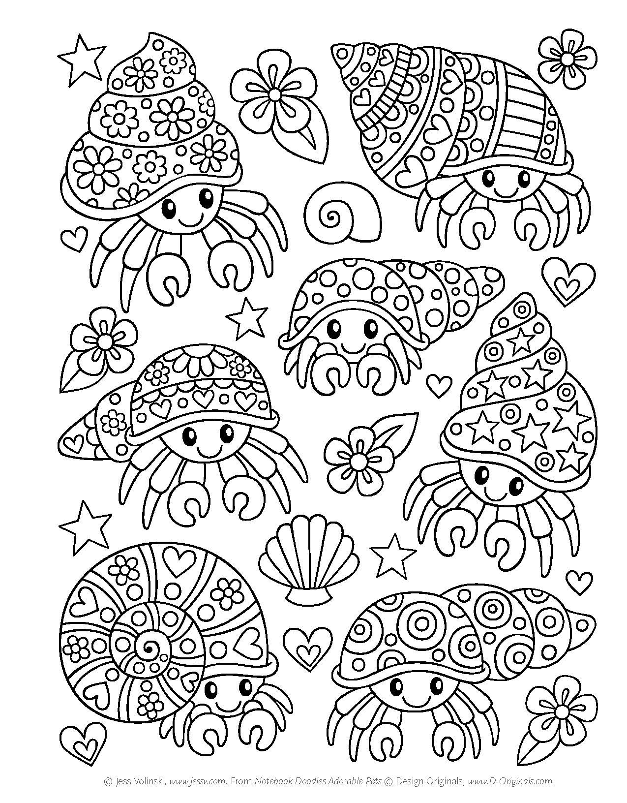 Notebook Doodles Adorable Pets Coloring