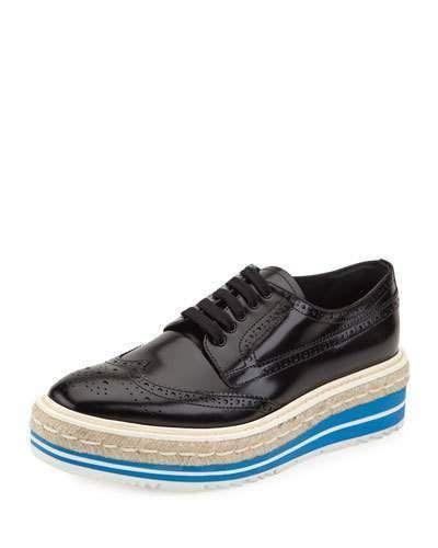 Plate-forme Prada Chaussures Richelieu - Bleu YTSVxA