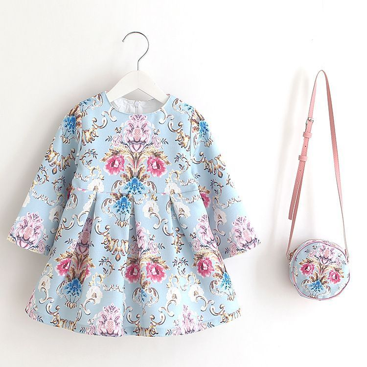03fa23b163a Check out my new Pretty Southwest Print Long Sleeve Princess Dress in Light  Blue for Baby and Toddler Girls