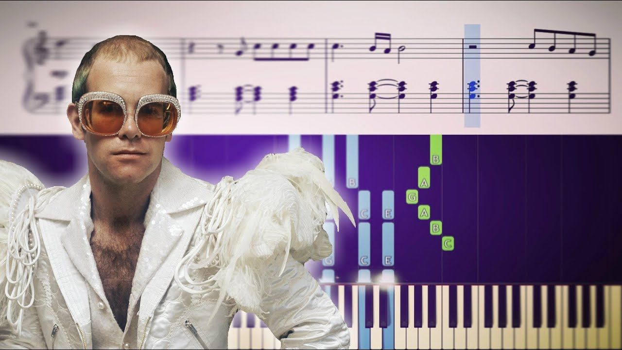 Rocket Man Elton John Piano Tutorial Sheets