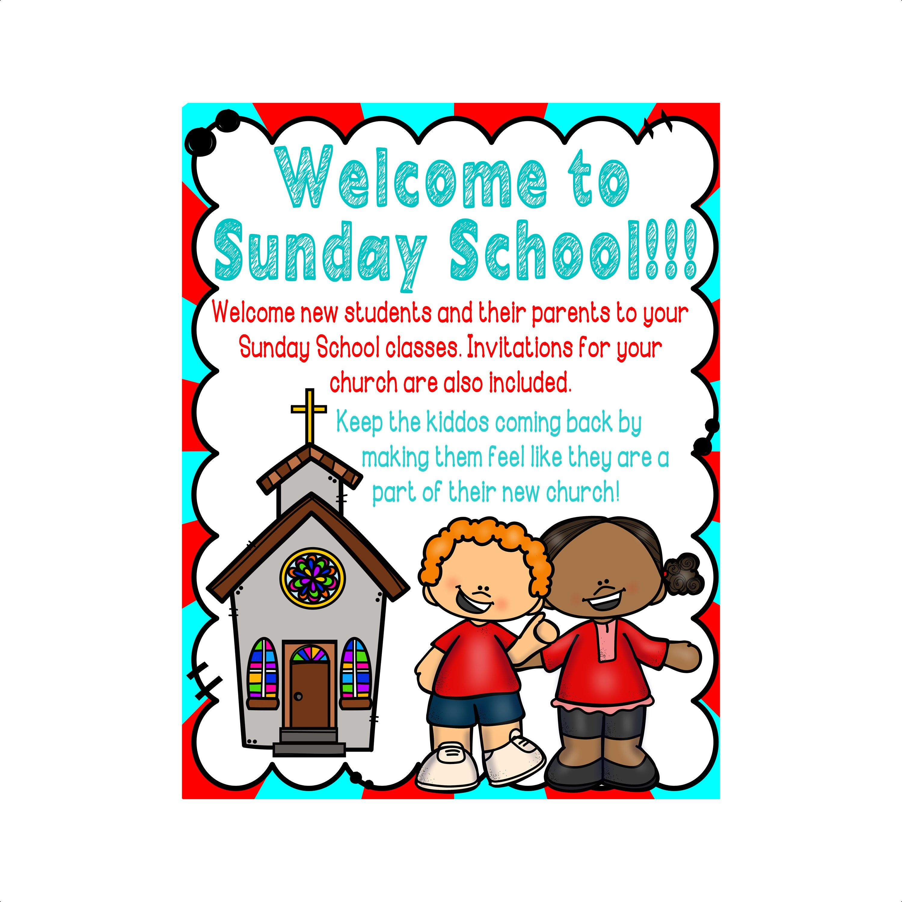 Welcome To Sunday School For Children And Their Parents