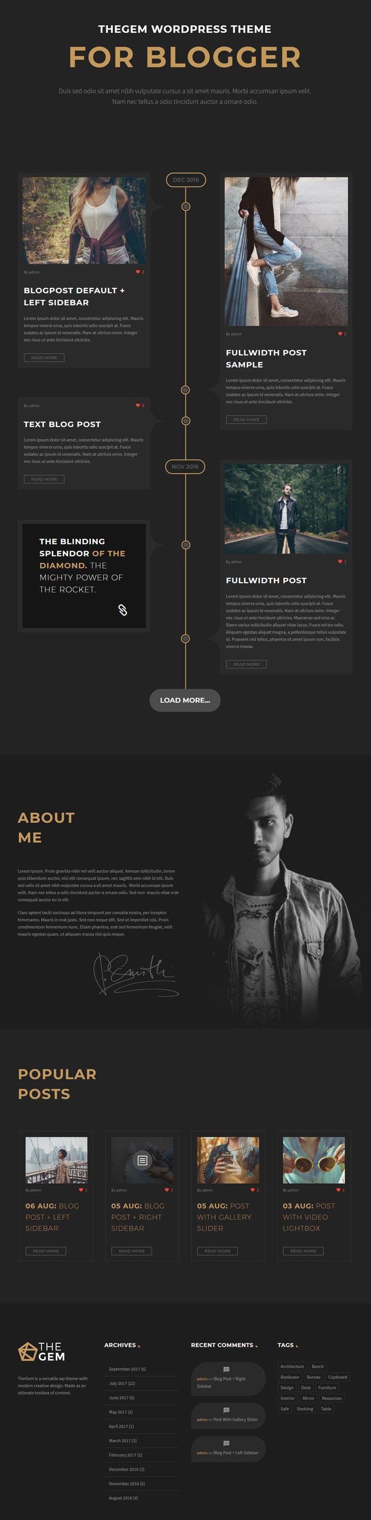 Creative blog theme / Креативный шаблон для блога на ...