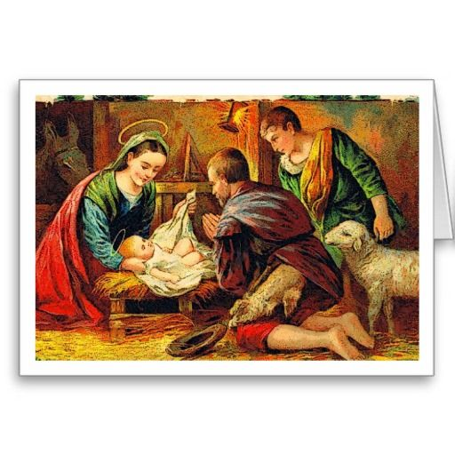 Nativity Christmas Card