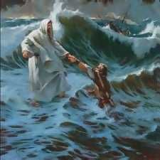 In the mist of your storm... he will lift you up !