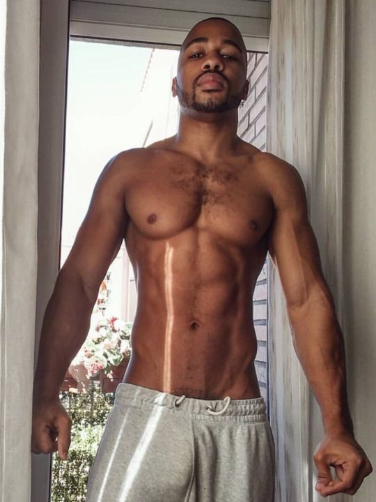 thug attractive showing his hard torso