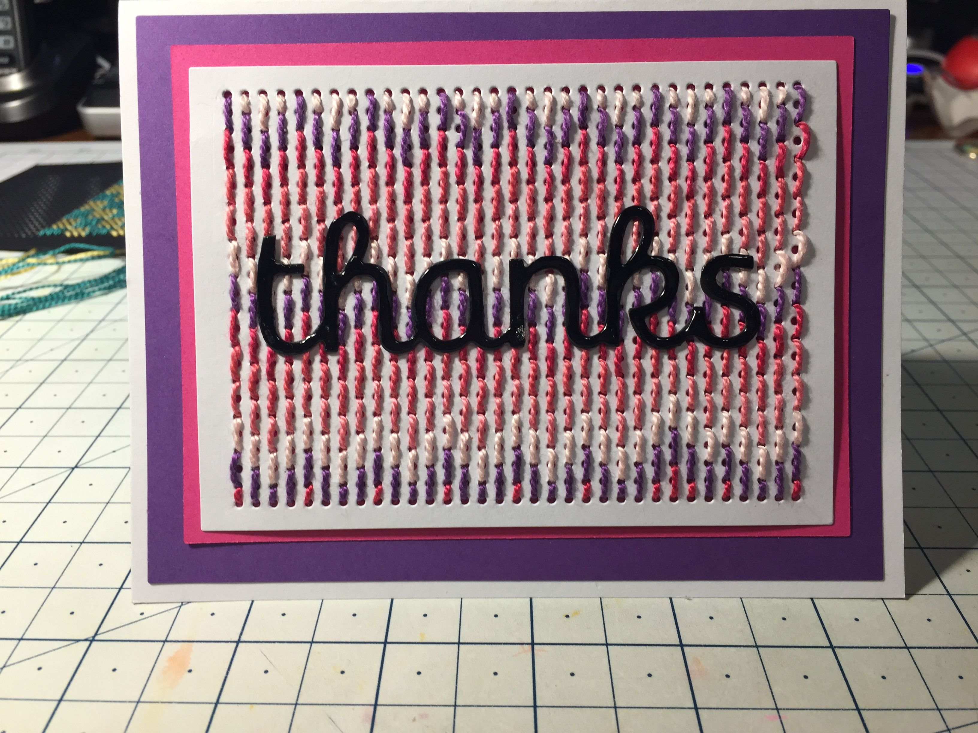 embroidery stitches sewed on card  cross stitch cards