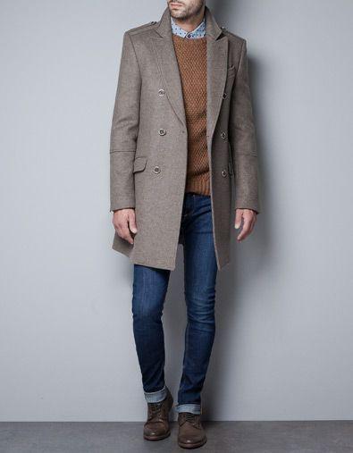 Pinterest Button Man Zara Coats Gold With Men Coat AqO0U