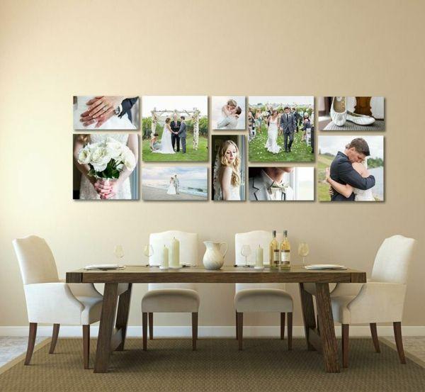 100 fotocollagen erstellen - fotos auf leinwand selber machen, Esszimmer dekoo