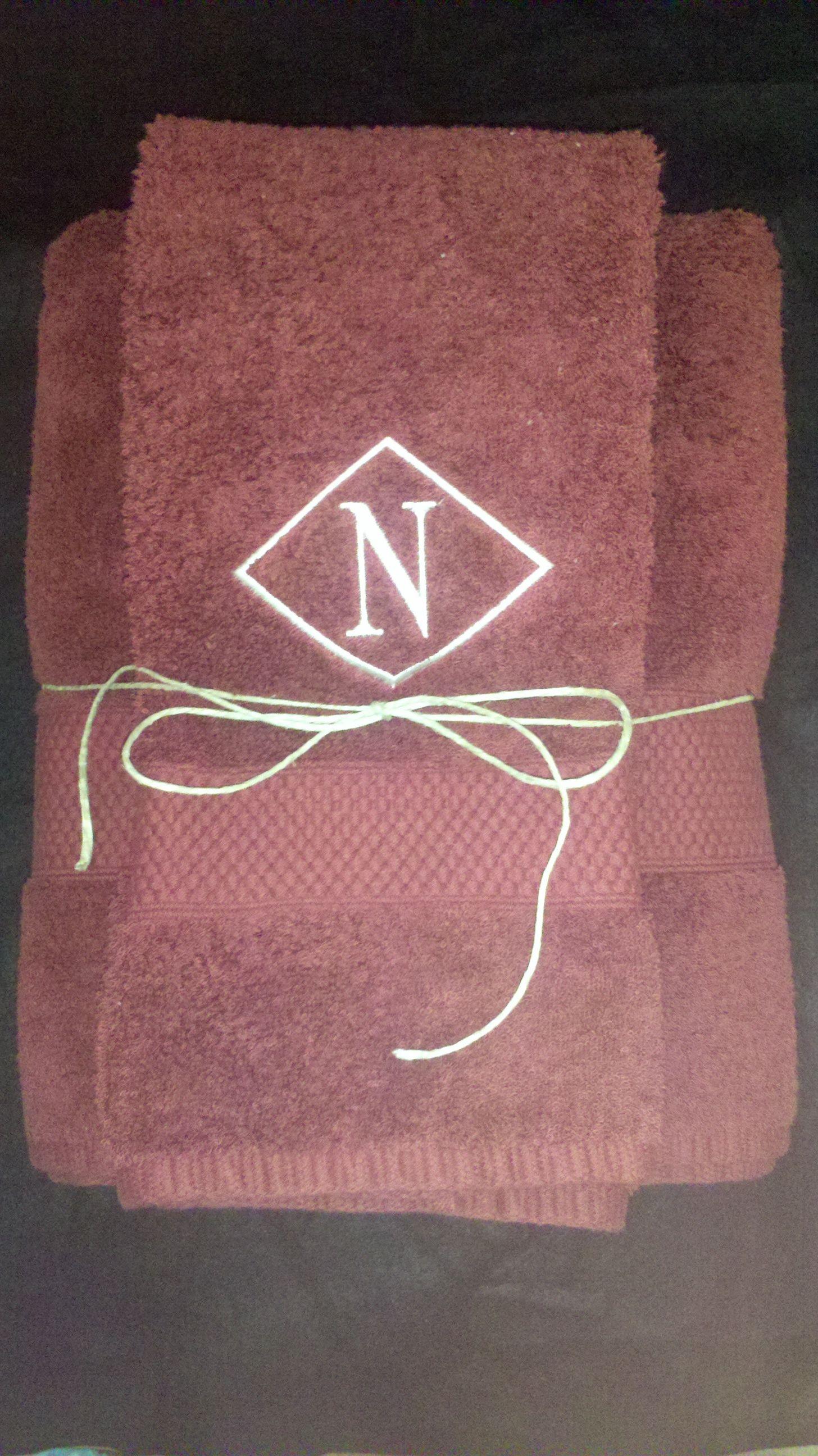 Monogrammed towels | Monogramming | Pinterest | Towels