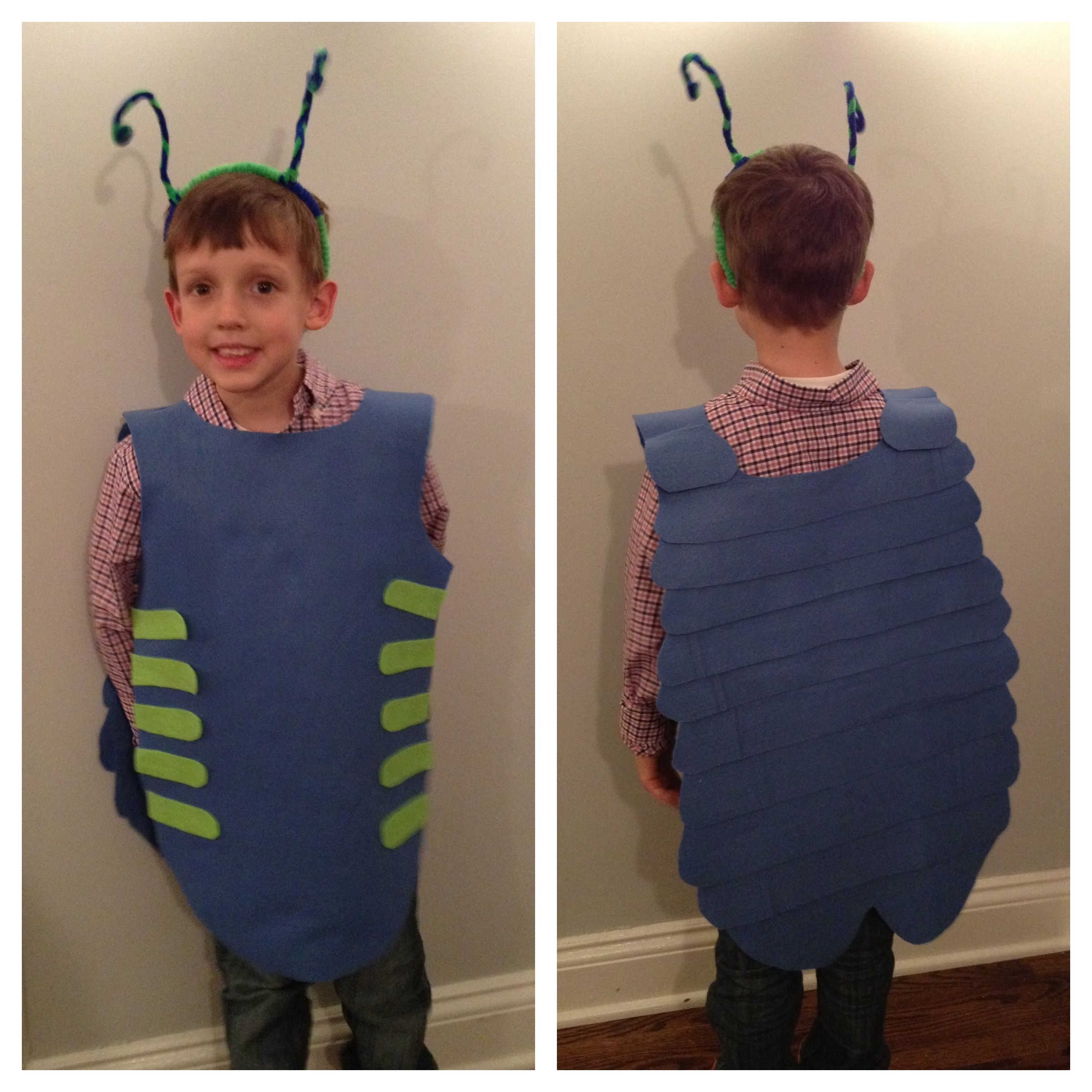 Roly Poly bug Costume - I like the construction theme on this one ...